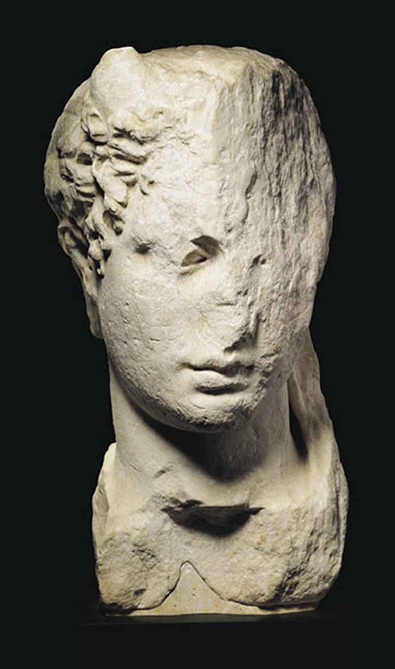 A Greek marble head of a ruler. Hellenistic Period, c.  3rd-2nd century. 15 916 in (39.5 cm) high. This lot was offered in Antiquities on 25 October 2016 at Christie's in New York and sold for $68,750
