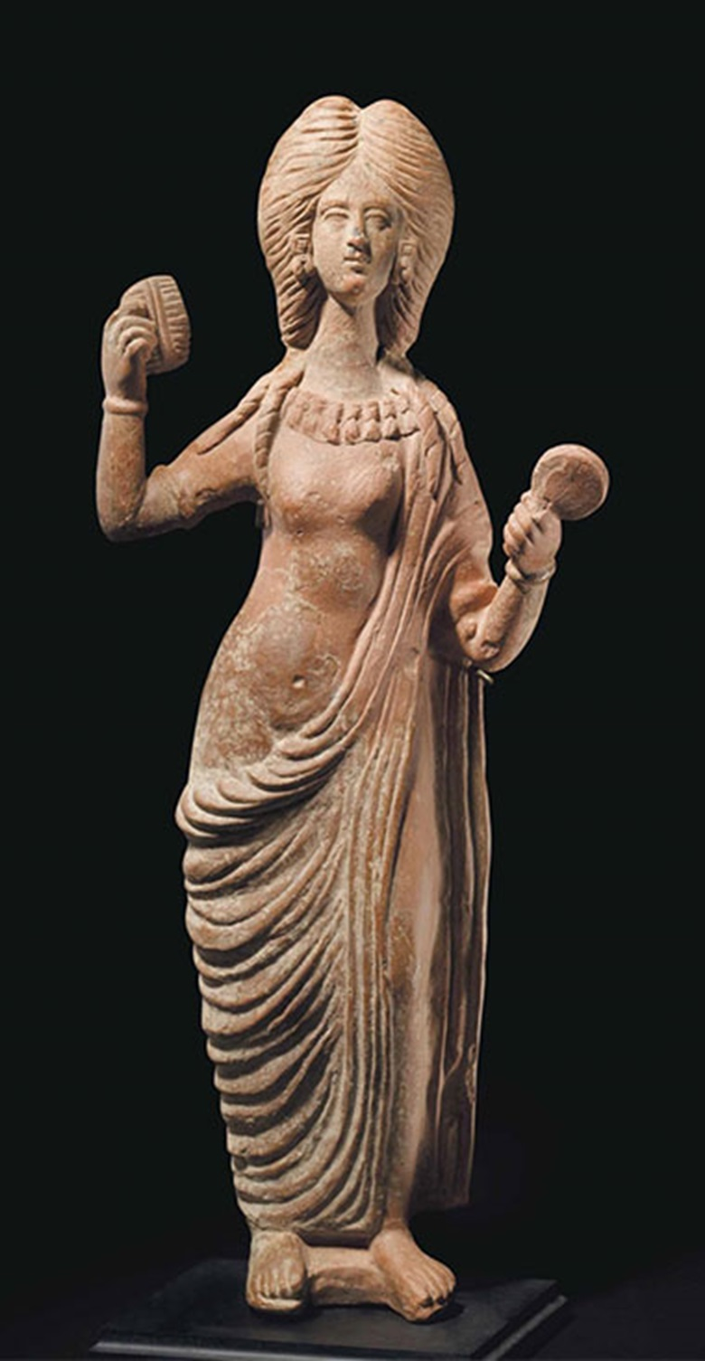 A Roman terracotta Venus. C. late 2nd century AD. 20 in (50.8 cm) high. This lot was offered in Antiquities on 25 October 2016 at Christie's in New York and sold for $10,000