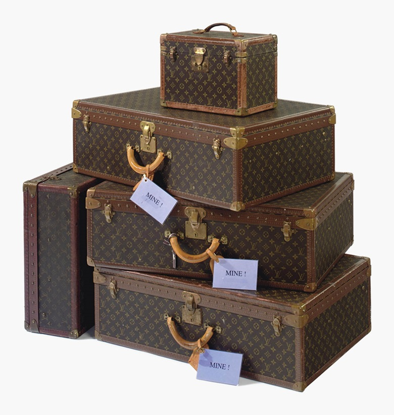 A set of Alzer suitcases and a Boite Pharmacie. Louis vuitton, 20th century. Sold for $110,500 on 15 December 2011