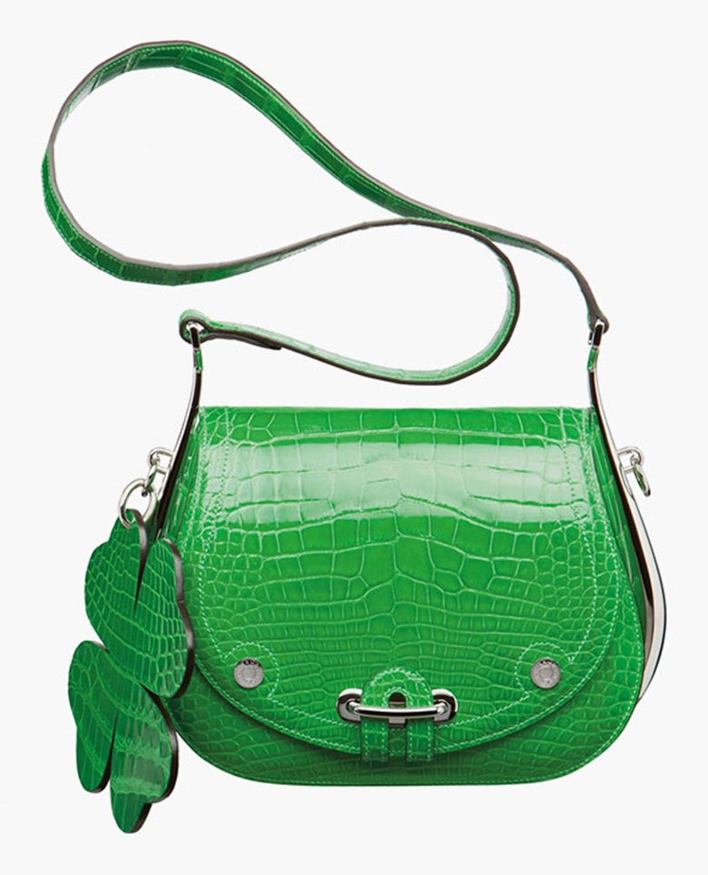 A green alligator Passe-Guide Ireland bag. Hermès, 2012. Sold for £79,250 in May 2012