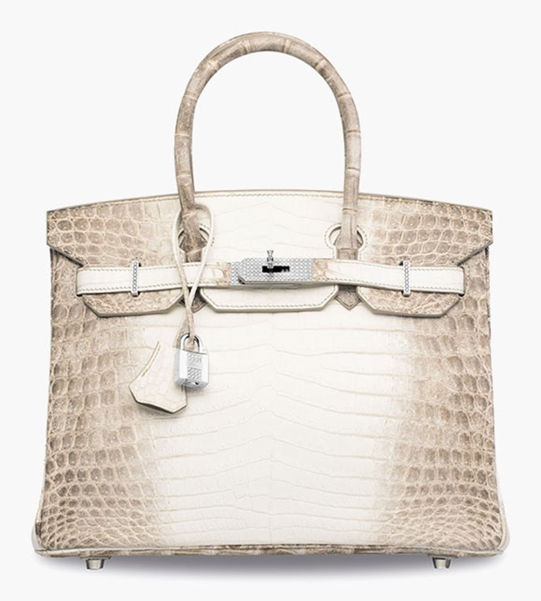 An exceptional, matte white Himalaya niloticus crocodile diamond Birkin 30 with 18k white gold & diamond hardware. Hermès, 2008. Sold for HK$2,320,000 on 30 May 2016