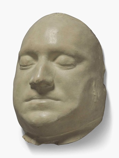 A plaster death mask of the mutineer Richard Parker. 19th century. 10¼ in (26 cm) high. Estimate £600-900. This lot is offered in Interiors on 26 October 2016 at Christie's in London, South Kensington