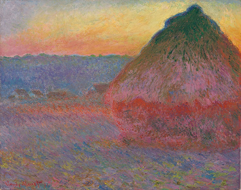 Claude Monet (1840-1926), Meule, 1891. Oil on canvas, 28⅝ x 36¼ in (72.7 x 92.1 cm). Sold for $81,447,500 on 16 November 2016