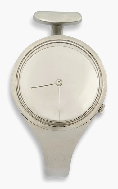 Vivianna Torun Bülow-Hübe (1927-2004), A wristwatch, designed 1969. 2⅜ in (6 cm) wide, watchface 1½ in (3.2 cm) diameter. This lot was offered in Design Online, 18-27 October 2016