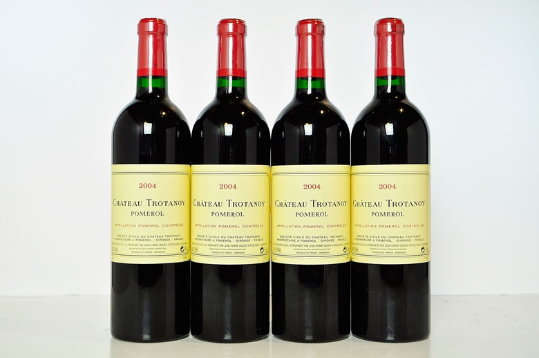 Château Trotanoy 2004, Pomerol. In six-bottle original wooden cases. 24 bottles per lot. This lot was offered in Christie's Wine OnlineHKG Discover Bordeaux, 18-31 October 2016, Online