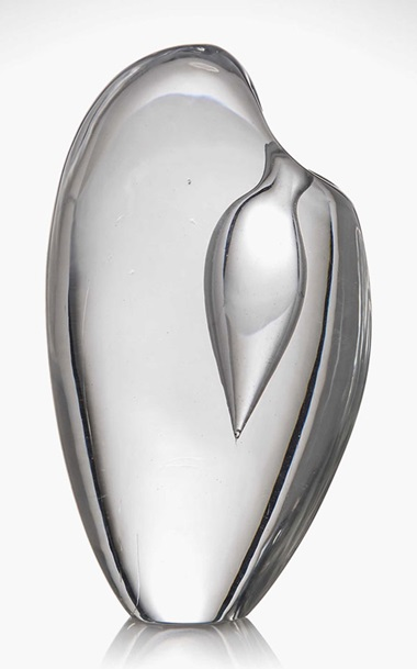 Timo Sarpaneva 1926-2006, A Prototype Vase, Circa 1952-1954. 8 in (20 cm) high. Estimate £5,000-8,000. This lot is offered in Design on 26 October 2016 at Christie's in London, King Street