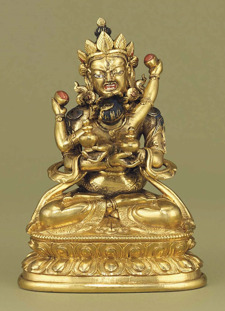 A small gilt-bronze figure of Sitasamvara. 18th century. 4¼ in (10.8 cm) high. This lot was offered in Chinese Ceramics & Works of Art  on 8 November 2016 at Christie's in London, King Street