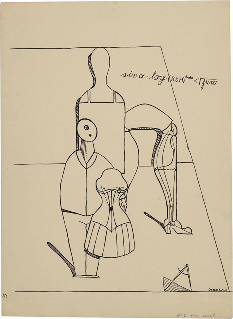 Max Ernst (1891-1976), Untitled, Plate 2 from Fiat Modes Pereat Ars, 1919. Sheet 17⅛ x 12½ in (435 x 318 mm). Estimate $12,000-15,000. This lot is offered in Prints & Multiples, 1-2 November 2016 at Christie's in New York