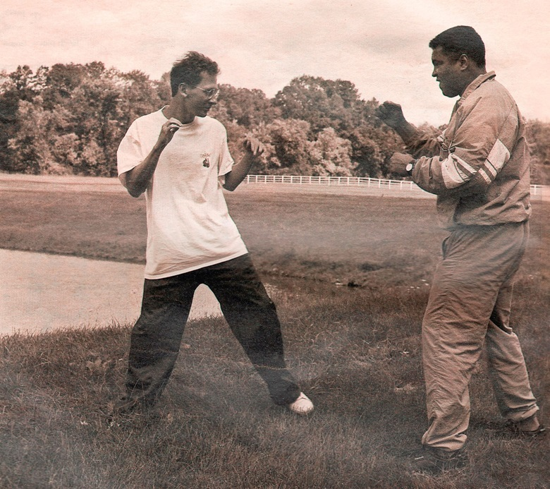 Davis Miller and Muhammad Ali, by Len Irish, photo courtesy of Davis Miller
