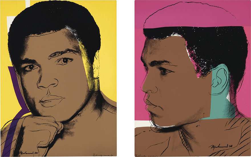 When Ali met Andy Warhol