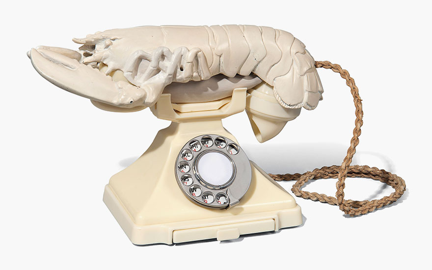 Salvador Dalí and Edward James, Lobster Telephone, (white aphrodisiac), 1938. Estimate £150,000-250,000. This work is offered in A Surreal Legacy Selected Works of Art from the