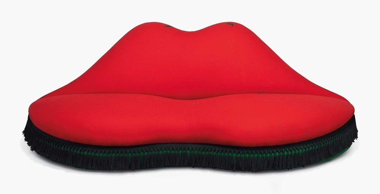 Salvador Dalí and Edward James, A sofa in the form of Mae West's lips, 1938. Estimate £250,000-400,000. This work is offered in A Surreal Legacy Selected Works of Art from the Edward James Foundation on 15 December at Christie's London © Salvador Dali, Fundació Gala-Salvador Dalí