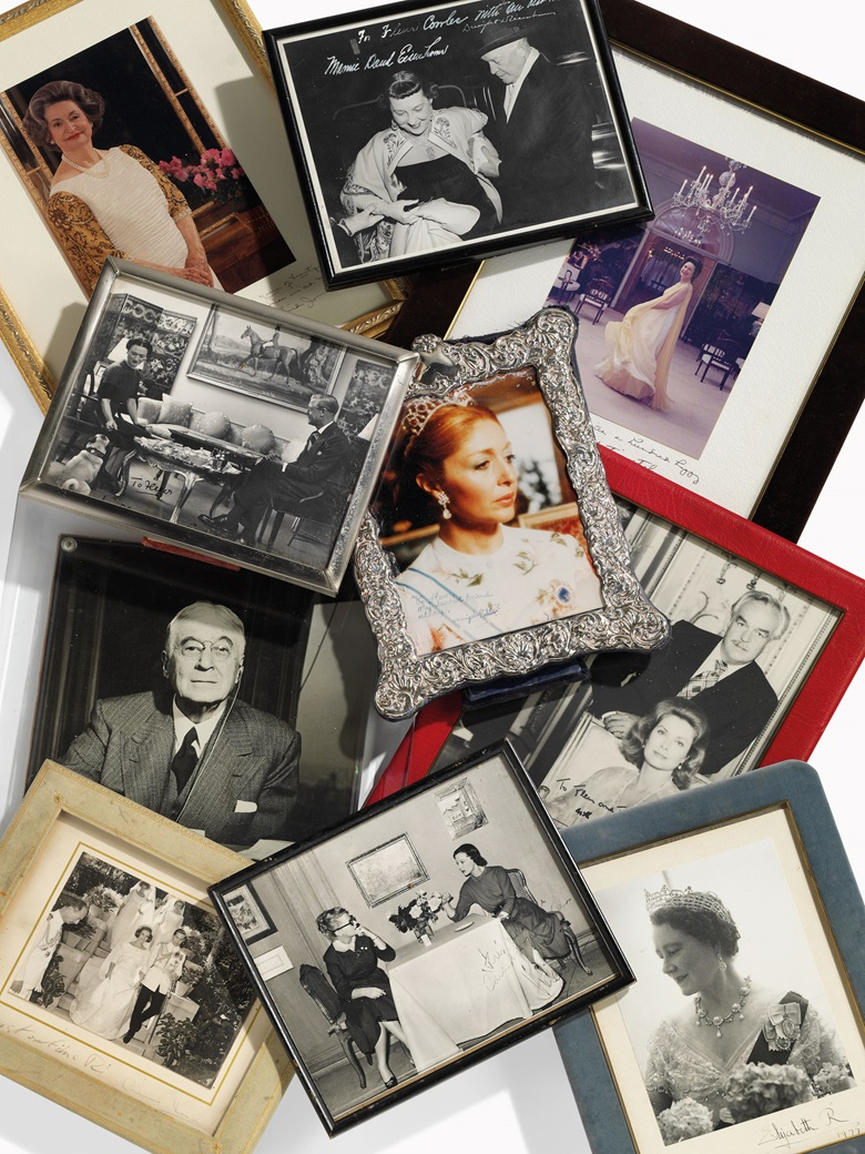 A group of ten autographed photographs of royalty, politicians and actresses, second half 20th century. The first 12 ½ in (32 cm) high. Estimate £1,200-1,800. This lot is offered in Christies Interiors on 23 November 2016 at Christie's in London, South Kensington