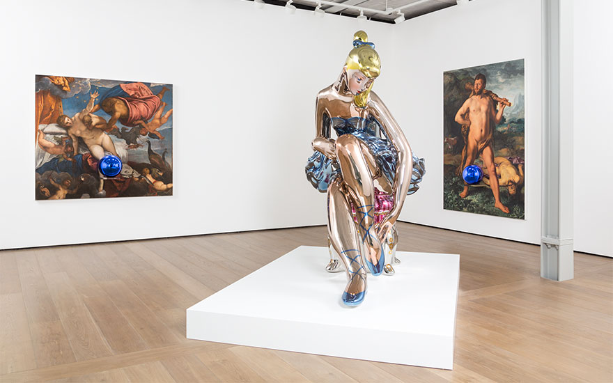 Jeff Koons. View of the exhibition Jeff Koons at Almine Rech Gallery, London. Courtesy of the Artist and Almine Rech Gallery. Photo Melissa Castro Duarte