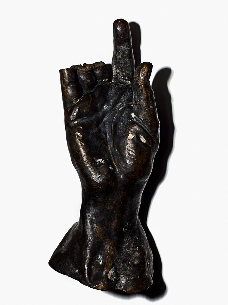 The only remaining piece of an Auguste Rodin (1840-1917) sculpture from the Cantor Fitzgerald collection. Photography Henry Leutwyler