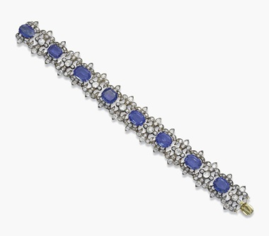 A 19th Century Sapphire And Diamond Bracelet Sold For Sfr 48 750 On 15