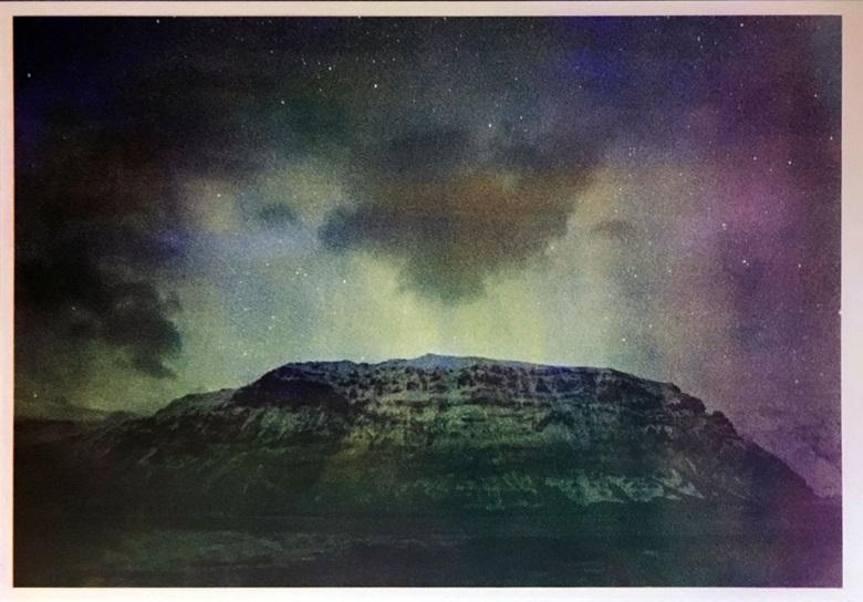 Mustapha Azeroual, Radiance#4_Aurora, 2016. Épreuve à la gomme bichromatée Trichrome, multicouche sur papier 100% coton 300gm2, © Mustapha Azeroual, courtesy Galerie Binôme