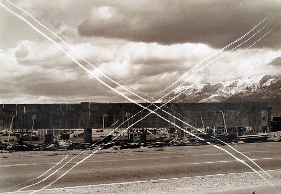 Thomas Barrow, fts Cancellations — Storm over Sandias, 1975. Toned gelatin silver print. Anne de Villepoix