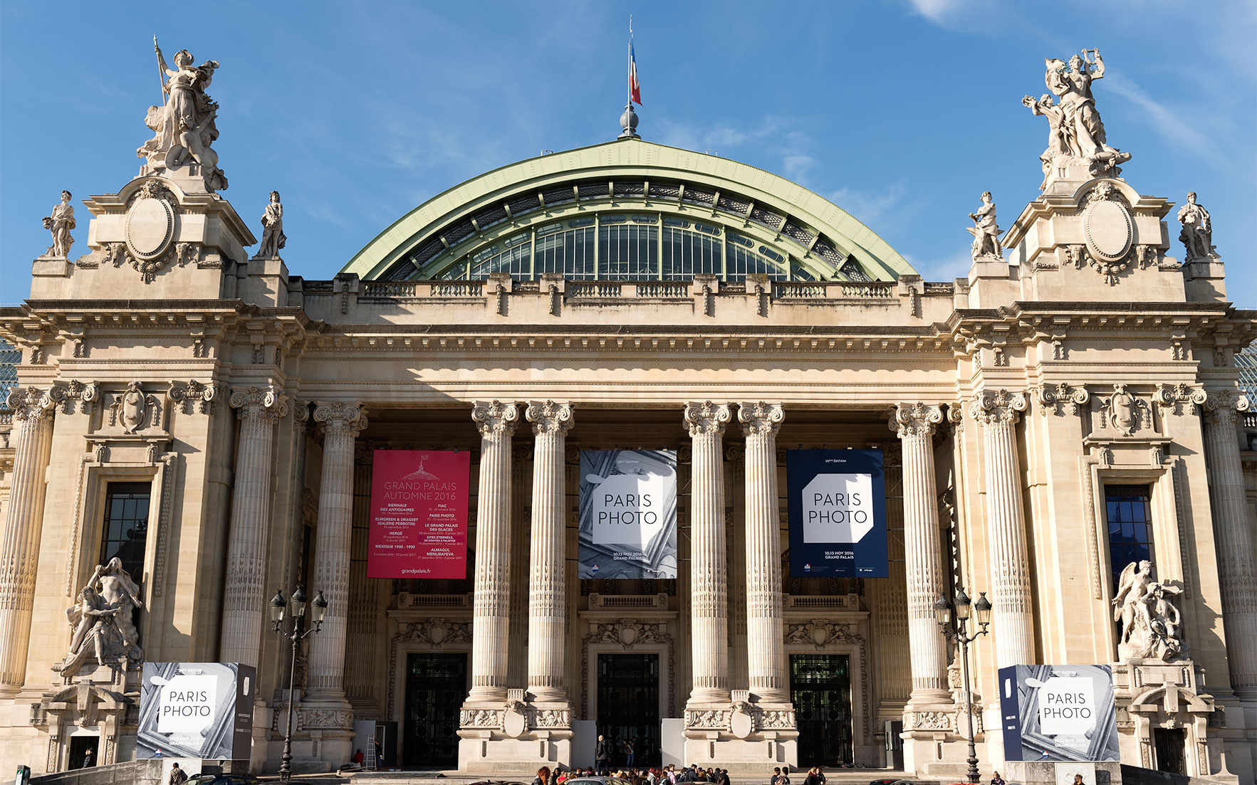 Main entrance of the Grand Palais, November 3, 2016 © Marc DomageParis Photo