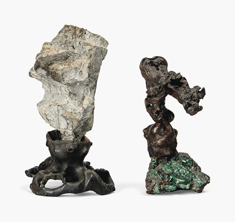 Two scholars objects. China, 19th century or earlier. 12 in (30.5 cm) high and 10 in (25.4 cm) high, respectively. Estimate £1,000-1,500. This lot is offered in Seward Kennedys Cabinet of Curiosities and The Tony Robinson Collection of Treen Drinking Vessels on 22 November 2016 at Christie's in London, South Kensington