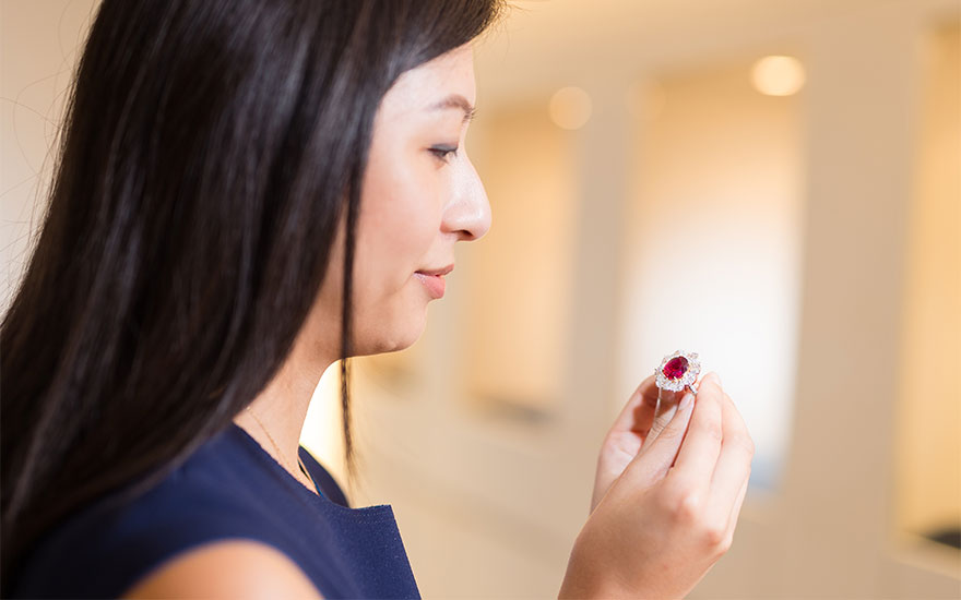 5 minutes with… A Burmese pigeon's blood ruby ring
