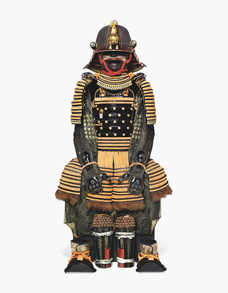 A Gomai-Do Gusoku [Armour with Five-Piece Cuirass], the helmet signed Nagamichi, Edo period (17th-18th century) Estimate £8,000-£10,000. This lot is offered in  Art of Japan on 8 December 2016 at Christie's in London, King Street