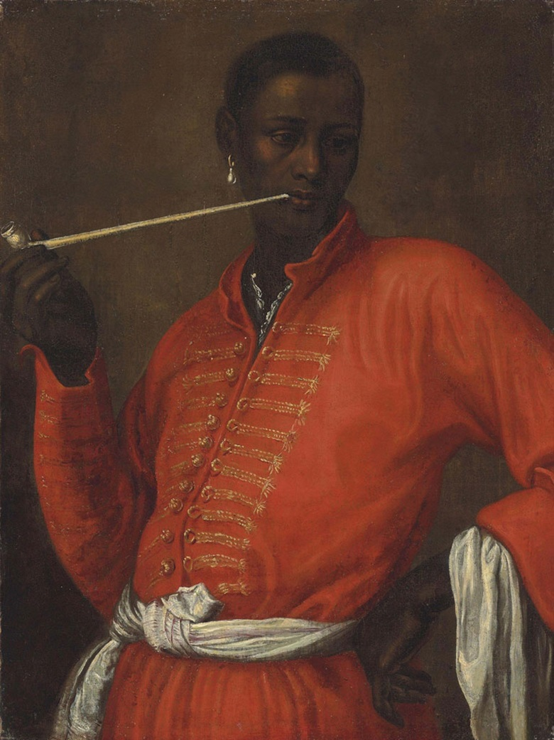 Dutch School, 17th century, Portrait of a Moor, Half-length, Smoking a Churchwarden Pipe, With His Left Arm Akimbo. Oil on canvas, 27⅞ x 22½ in (76 x 57.4 cm). Estimate £20,000-30,000. This lot is offered in Old Masters Day Sale on 9 December 2016 at Christie's in London, King Street