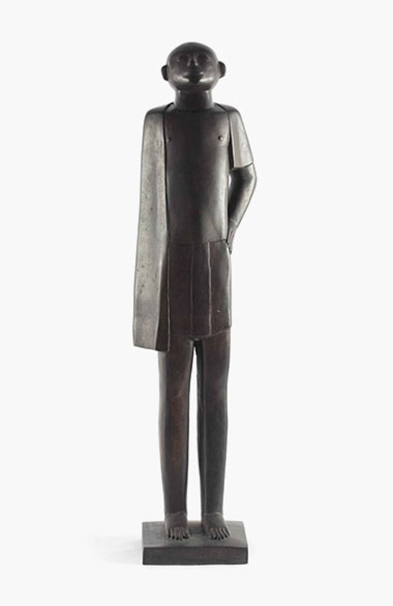 Adam Henein (Egyptian, b. 1929), Labour, 1957. Bronze with brown patina, height 55⅞in (142cm). Sold for $171,750 on 19 March 2014