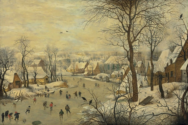 Pieter Brueghel the Younger (Brussels 15645-16378), The Bird Trap. Oil on panel, 14⅞ x 22⅛ in (37.7 x 56 cm). This lot was offered in Old Masters Evening Sale on 8 December 2016 at Christie's in London and sold for £461,000
