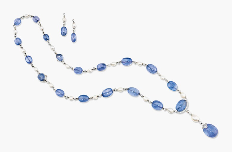 An Art Deco sapphire bead and diamond suite. Estimate £40,000-50,000. This lot is offered in Important Jewels on 30 November 2016 at Christie's in London, King Street