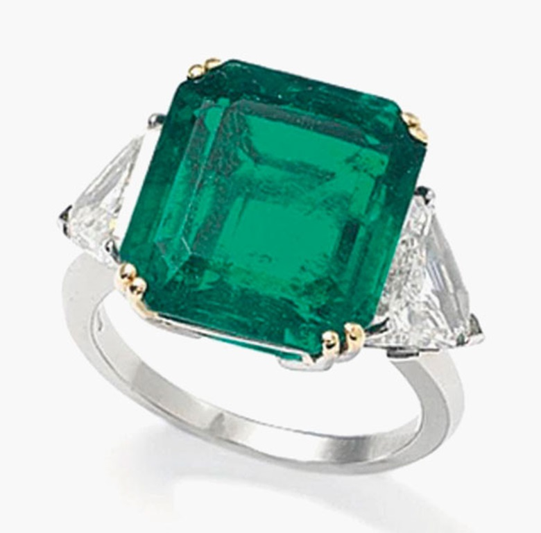 An emerald and diamond ring. Estimate £60,000-80,000. This lot is offered in Important Jewels on 30 November 2016 at Christie's in London, King Street