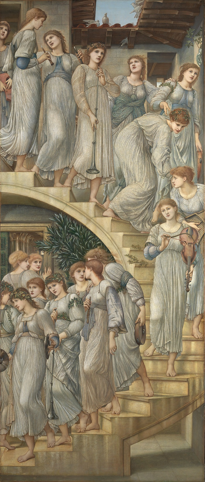 Sir Edward Coley Burne-Jones, Bt., A.R.A., R.W.S. (1833-1898), The Golden Stairs, 1880. © Tate, London, 2016
