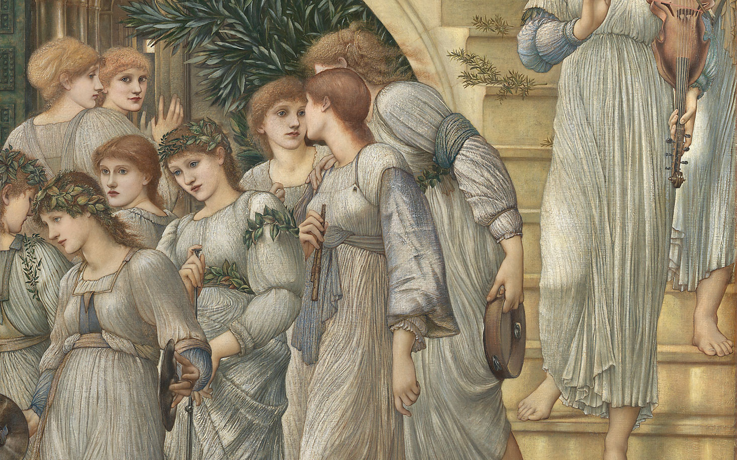 The maidens on the stairs