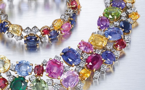 A multi-gem and diamond necklace, by Oscar Heyman & Brothers. This lot was offered in Magnificent Jewels on 7 December 2016 at Christie's in New York and sold for $50,000      .full-screen
