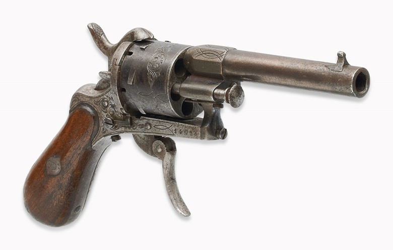 The Revolver with which Verlaine faild to kill Rimbaud. A 6-shot, 7mm. calibre revolver. Estimate €50,000-70,000. This lot is offered in The Exceptional Sale on 30 November 2016 at Christie's in Paris
