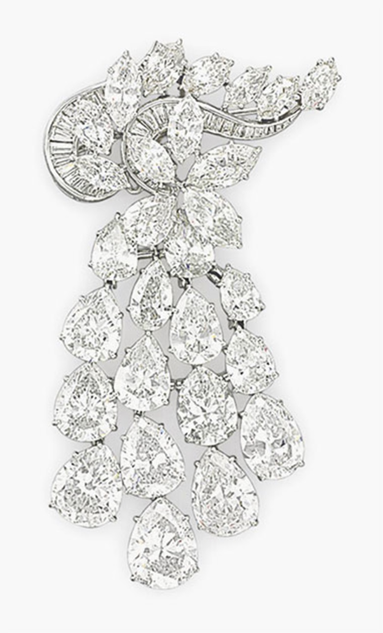 A diamond cluster brooch, by Harry Winston. Estimate $100,000-150,000. This lot is offered in Magnificent Jewels on 7 December 2016 at Christie's in New York, Rockefeller Plaza