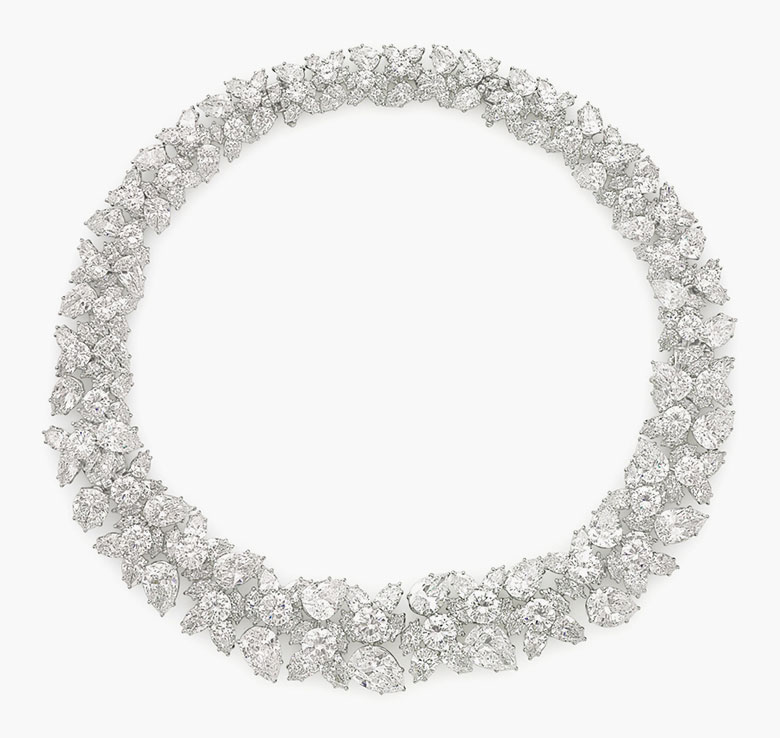 A diamond cluster necklace by Harry Winston (with a photograph by Cecil Beaton of Betsy Bloomingdale wearing the necklace, not shown). Estimate $400,000-600,000. This lot is offered in Magnificent Jewels on 7 December 2016 at Christie's in New York, Rockefeller Plaza