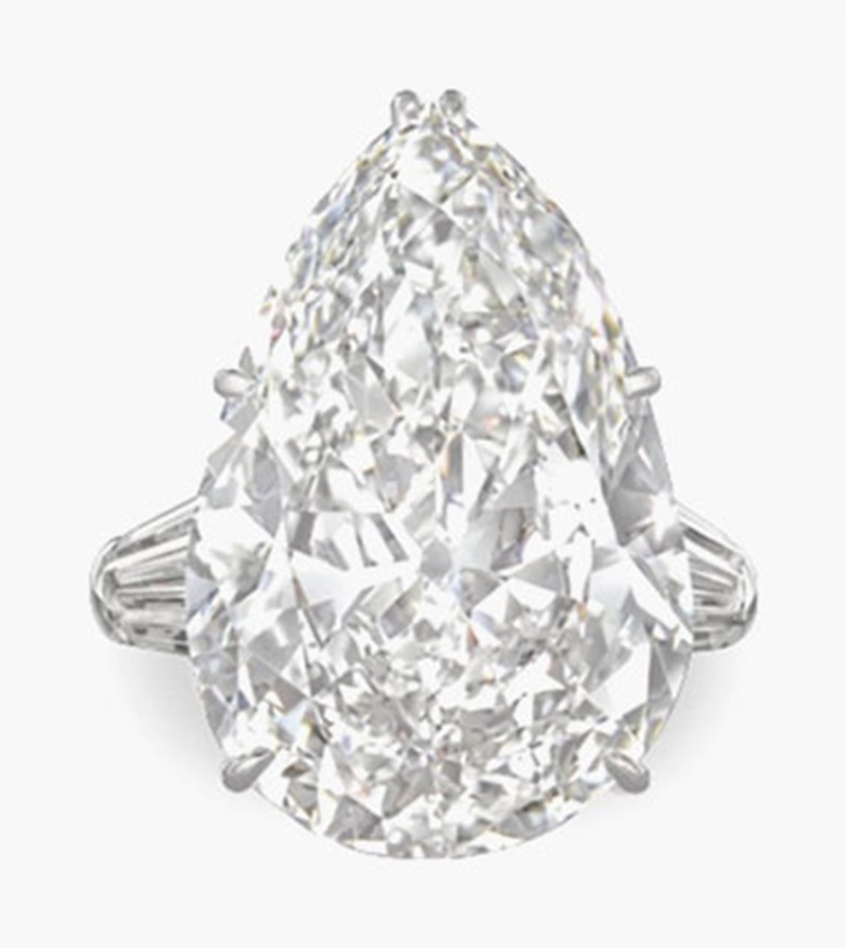 A diamond ring, by Harry Winston. Estimate $1,300,000-1,800,000. This lot is offered in Magnificent Jewels on 7 December 2016 at Christie's in New York, Rockefeller Plaza