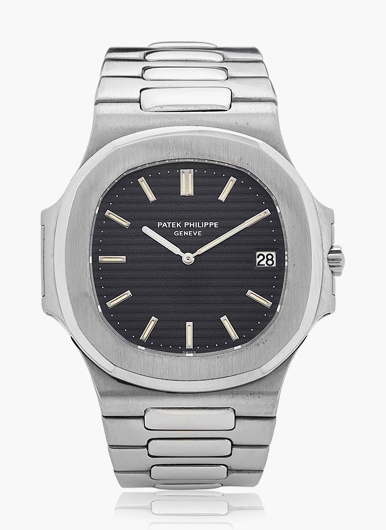 Patek Philippesteel Nautilus, Ref. 37001. Estimate $30,000-50,000. This lot is offered in Christie's Watches Online Time for the Holidays, 23 November–7 December 2016, Online
