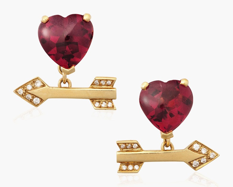 Lorenz Bäumer heart and arrow cufflinks. Estimate $2,000-3,000. This lot is offered in Cufflinks for the Modern Gentleman, 1-13 December, Online