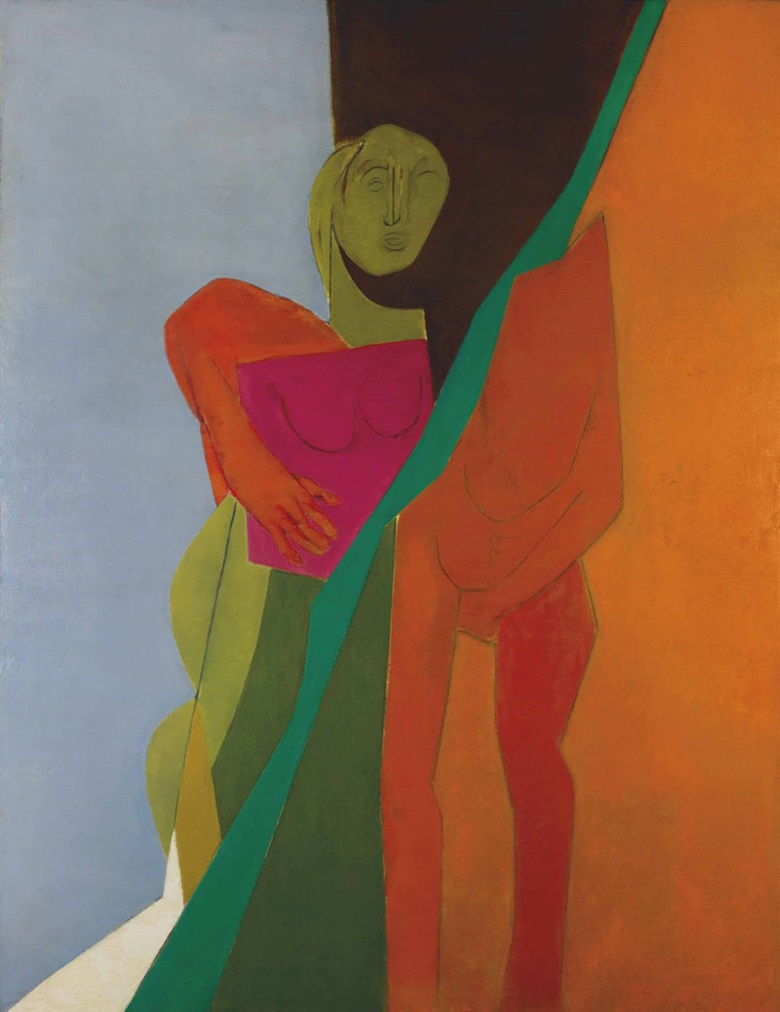 Tyeb Mehta (1925-2009), Untitled (Diagonal), 1975. Oil on canvas, 66⅜ x 51⅛ in (168.6 x 129.9 cm). Estimate INR10,00,00,000-15,00,00,00 ($1,500,000-2,200,000). This lot is offered in The India Sale – South Asian Modern + Contemporary Art on 18 December 2016 at Christie's in Mumbai