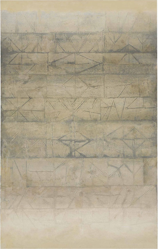 Vasudeo S. Gaitonde (1924-2001), Untitled, circa late 1960s. Oil on canvas, 64⅛ x 40 in (162.9 x 101.6 cm). Estimate INR9,00,00,000-12,00,00,000 ($118,000-177,000). This lot is offered in The India Sale – South Asian Modern + Contemporary Art on 18 December 2016 at Christie's in Mumbai