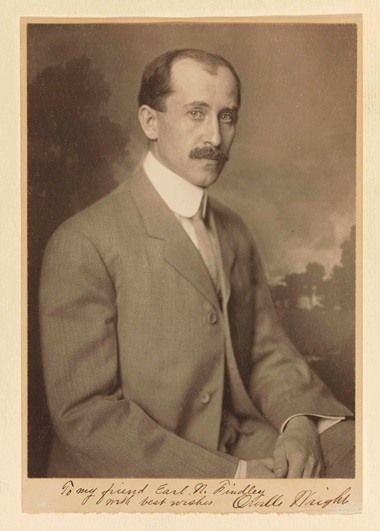 Wright, Orville (1871-1948). Photograph, signed ('Orville Wright'). 226 x 163 mm on a 245 x 170 mm mount, blind stamped 'NICOLA PERSCHEID' at the extreme lower right. Signed and inscribed on the mount 'To my friend Earl N. Findley with best wishes Orville Wright.' Estimate $2,000-3,000. This lot is offered in Fine Printed Books and Manuscripts, including