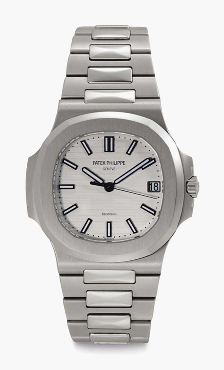 Patek Philippe. A stainless-steel automatic wristwatch with date, centre seconds, and bracelet. Signed Patek Philippe, Genève, retailed by Tiffany & Co., Nautilus Model, Ref. 57111A, Movement No. 5578831, Case No. 4931366, Circa 2011. This lot was offered in Rare Watches including NAUTILUS 40 part IV on 6 December 2016 at Christie's in New York and sold for $47,500