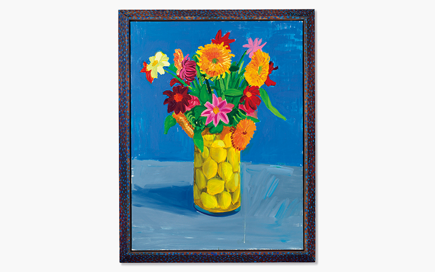 Property from the Collection of Ruth and Jerome Siegel. David Hockney (b. 1937), Flowers Sent as a Gift, 1995. Estimate $1,200,000–1,800,000. This work is offered in the Post-War and Contemporary Art