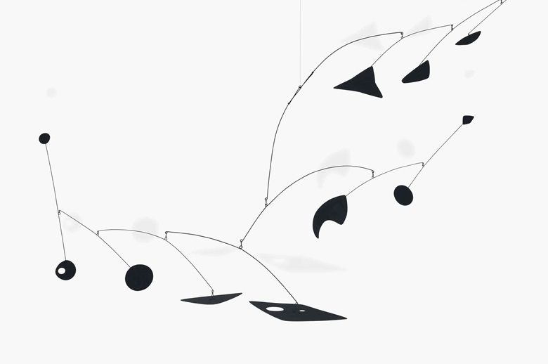Alexander Calder (1898-1976), Claw, 1955. Hanging mobile — sheet metal, wire and paint. 47 x 93 x 56 in (119.4 x 236.2 x 142.2 cm). Sold for $3,973,000 on 10 May 2016