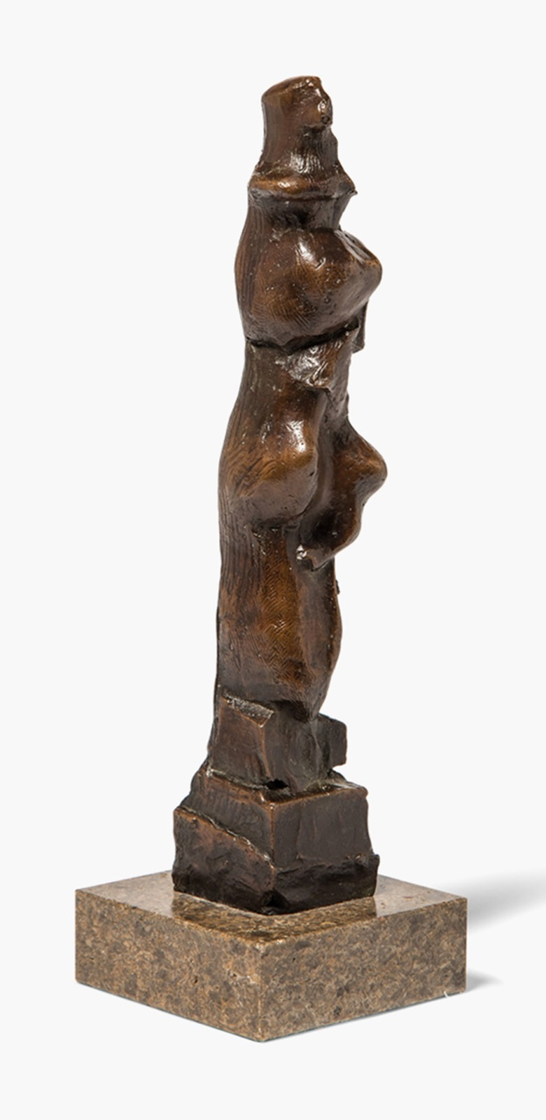 Henry Moore, O.M., C.H. (1898-1986), Upright Motive B, Conceived in 1968. This is cast 19. Bronze with a goldbrown patina, 11½ in (29 cm) high, excluding composite base. Estimate £12,000-18,000. This lot is offered in ModernBritish Art Online, 2-13 December 2016