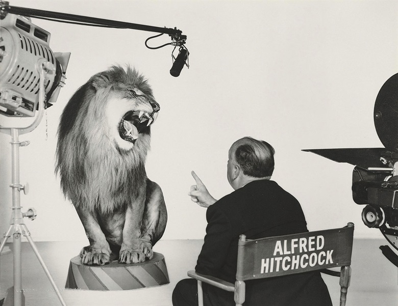 Clarence Sinclair Bull (1896–1979), Alfred Hitchcock with MGM Lion, 1958. Blindstamped photographers credit (image); stamped photographers credit and John Kobal Foundation with various annotations in pencil (verso), image 10⅜ x 13⅜ in (26.3 x 34 cm), sheet 11 x 14 in (28 x 35.4 cm). Estimate $1,500-2,500. This lot is offered in Photographs The Classics, 6-15 December 2016, Online. © The
