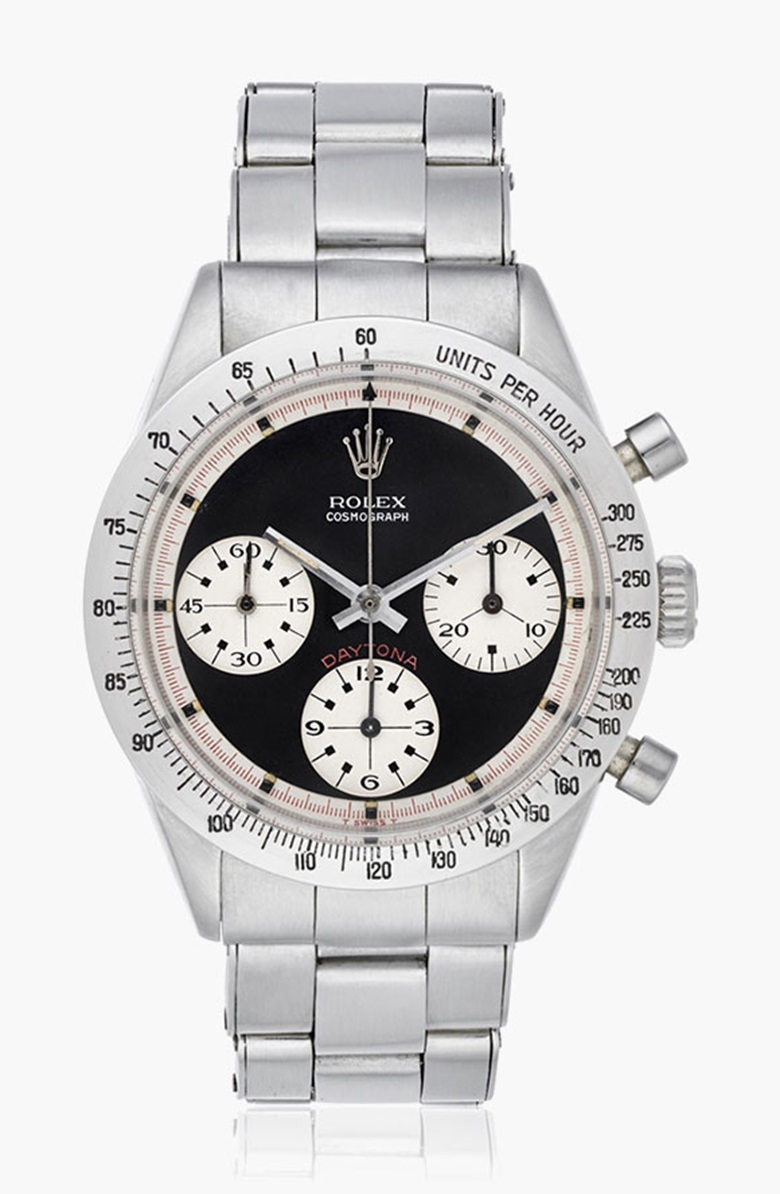 Rolex Paul Newman Cosmograph Daytona, ref. 6239. Estimate $120,000-180,000. This lot is offered in Christies Watches Online on 8 December 2016 - 14 December 2016, Online