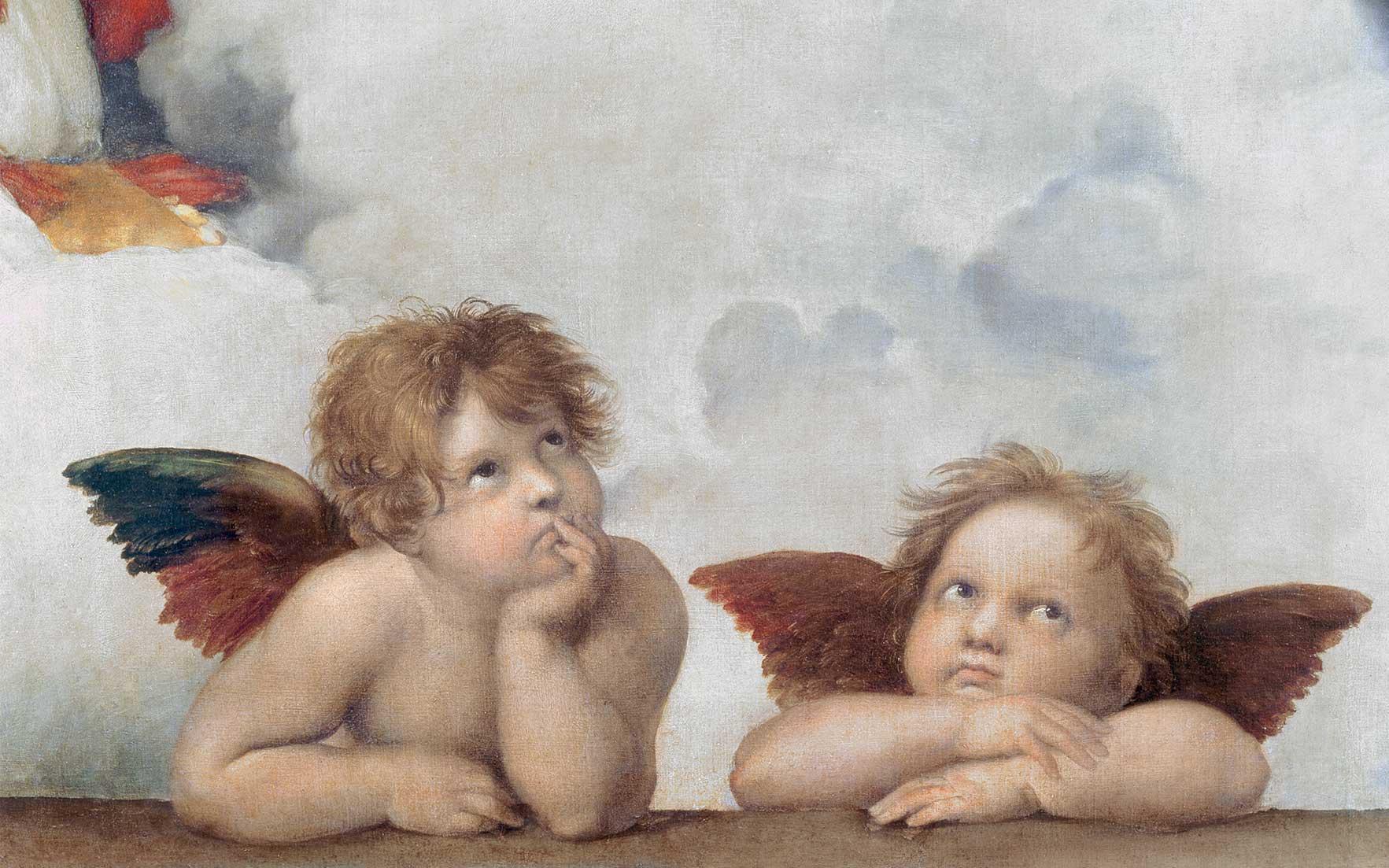 День отпуске, открытка ангелы сикстинской мадонны